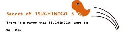 Secret of TSUCHINOCO 5. There is a rumor that TSUCHINOCO jumps 2m to 10m.